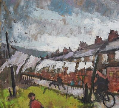 Norman Cornish, 'Washing line'