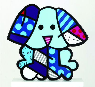 Romero Britto, 'Azul Blue Dog', 2012