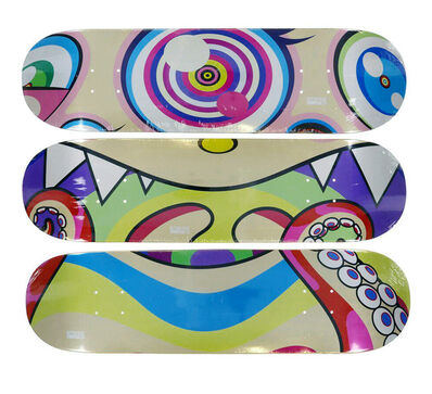 Takashi Murakami, 'Complexcon Skateboard decks set of 3', 2017