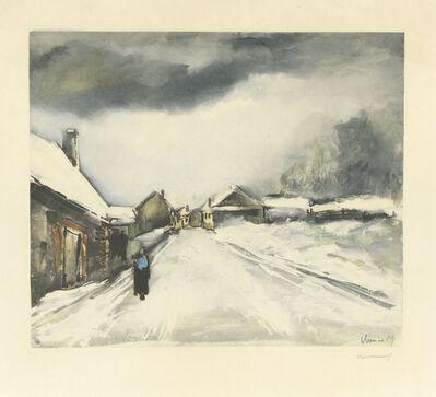 Maurice de Vlaminck, 'Village Sous la Neige', 1955