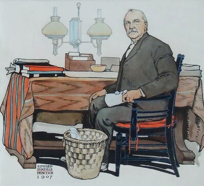 Edward Penfield, 'President Cleveland, Saturday Evening Post Cover', 1908