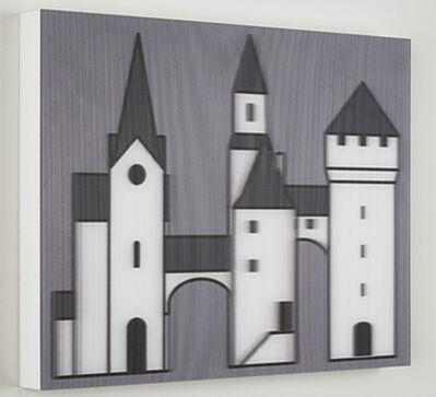 Julian Opie, 'Medieval Village 3', 2019