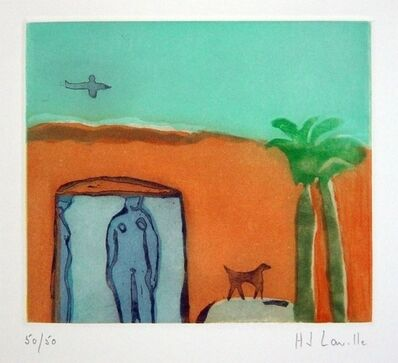 Joy Laville, 'Figures with Dog and Plane', ca. 2005