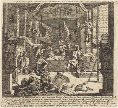 William Hogarth, 'A Just View of the British Stage', 1724