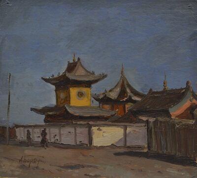 Aleksey Ivanovich Borodin, 'Temple in Mongolia', 1934