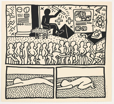 Keith Haring, 'UNTITLED FROM BLUEPRINT SERIES', 1990