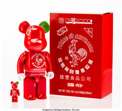 BE@RBRICK X BAIT X Huy Fong Foods, 'Sriracha 400% and 100% (two works)', 2015
