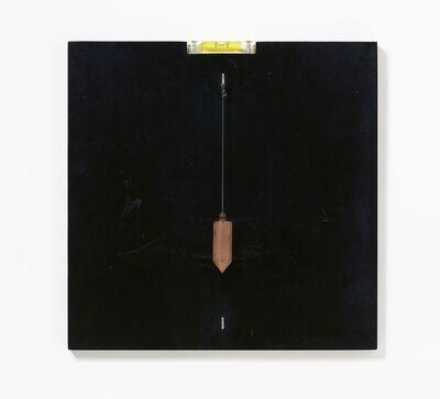 Timm Ulrichs, 'Selbstjustierbares Wasserwaagen- und Lotbild', 1968