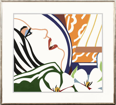 Tom Wesselmann, 'Face with Orange Wallpaper', 1987