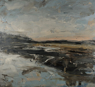 Louise Balaam, 'Sky clearing over the estuary, herons (Pembrokeshire)', 2019