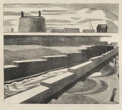 Paul Nash, 'The Sluice', 1920
