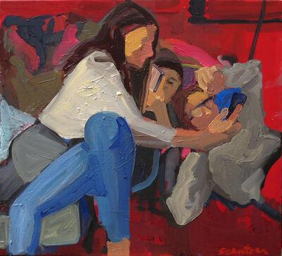 Dena Schutzer, 'Three Girls in Nook', 2020