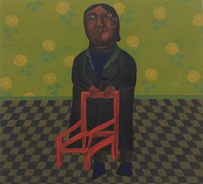 Salah Elmur, 'A woman and a chair', 2017