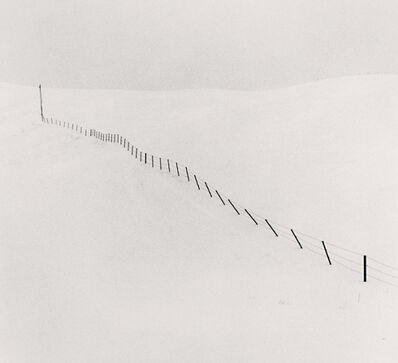 Michael Kenna, 'Hillside Fence, Study 1, Teshikaga, Hokkaido, Japan', 2002