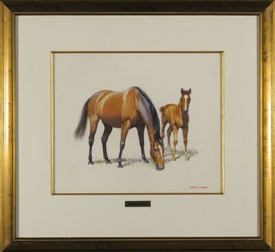 Alister Simpson, 'A Bay Mare and Foal'