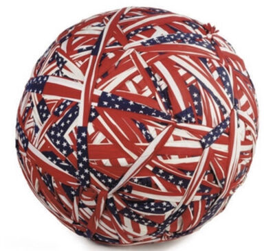 Donald Lipski, 'Who's Afraid of Red, White, and Blue? Flag Ball No. 2', 1990