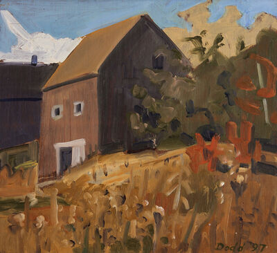 Lois Dodd, 'Small Autumn Barn', 1997