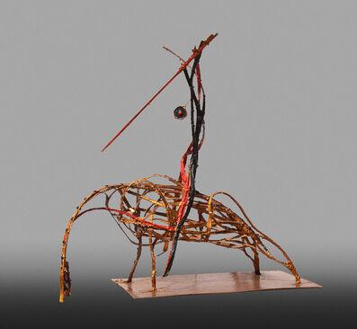 Angelo Canevari, 'Picador (Bullfighter) - Resin and metal orange sculpture by Italian sculptor Angelo Canevari', 2004