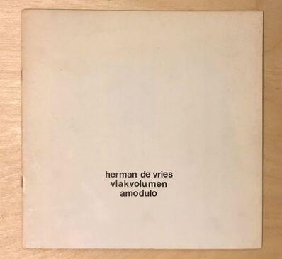 "herman de vries, 'Vlakvolumen, collection ""20 x 20"", nr. 14 ', 1971"