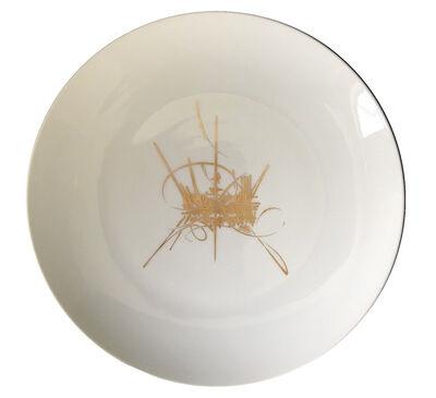 """Georges Mathieu, '""""Montreal"""", 1967, Sèvres Plate, Porcelain with Gold Gilding, Universal Exhibition of Montreal '67', 1967"""