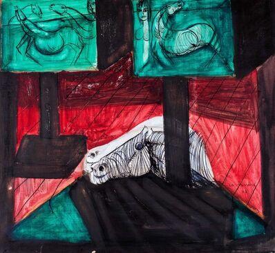Bruno Cassinari, 'Internal with horse head', 1967