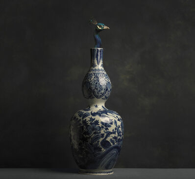 Marie Cecile Thijs, 'Peacock and Delft Blue Vase', 2016