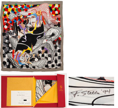 """Frank Stella, '""""The Whale Watch"""", Silk Scarf Signed/Dated  Edition of 650, LARGE 54 x 54 in.', 1993"""