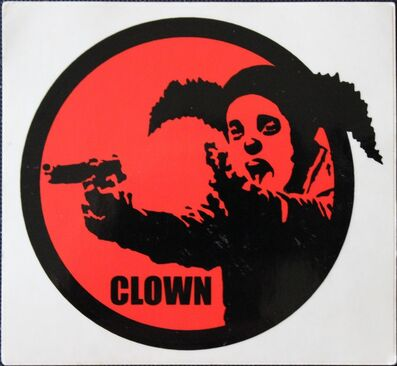 Banksy, 'Clown Skateboards sticker', ca. 2001