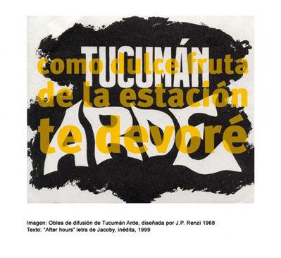 Roberto Jacoby, 'tucuman', 2008