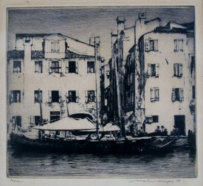 Mortimer Menpes, 'Facades, Venice', ca. 1910