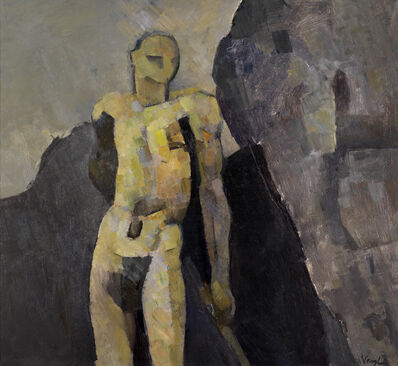 Keith Vaughan, 'Nude Against a Rock', 1957