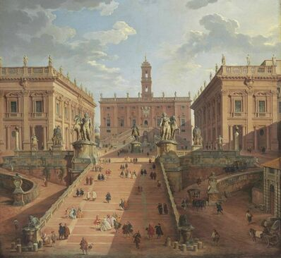 Giovanni Paolo Panini, 'View of the Campidoglio, Rome', 1750
