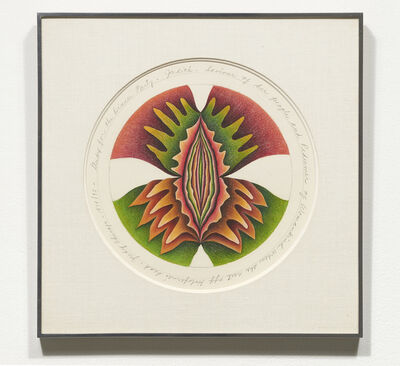 Judy Chicago, 'Study for Judith Plate', 1974-1975