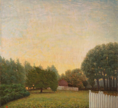 John Beerman, 'October, 7a.m., Barn and Field', 2017