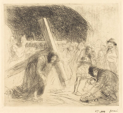 Jean-Louis Forain, 'Christ Carrying the Cross (seventh plate)', ca. 1910