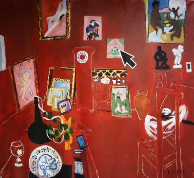 Anthony Lister, 'HE DESERT: HARMONY IN RED 1908 / Homage to Henri Matisse', 2019