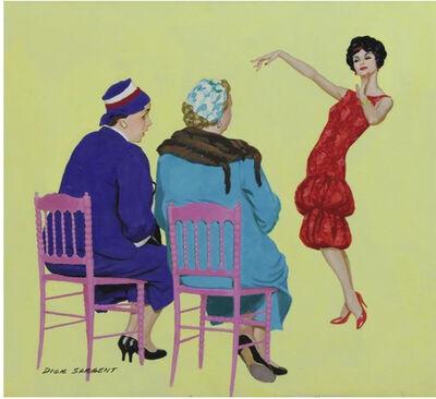 Richard Sargent, 'Modeling Dress, Cereal Advertisement', 1958
