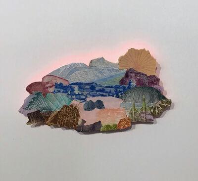 Pam Longobardi, 'Island of Refuge (tworocks pinklake flowersunrise)', 2019