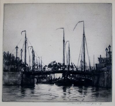 Mortimer Menpes, 'Fishing Boats, Venice', ca. 1910