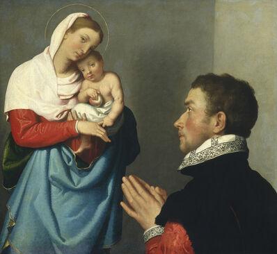 Giovanni Battista Moroni, 'A Gentleman in Adoration before the Madonna', ca. 1560