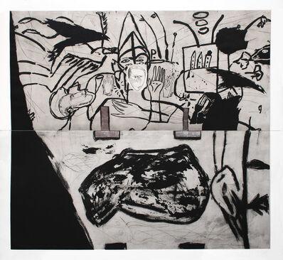 Mimmo Paladino, 'Small Town', 1990-1991