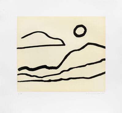 Etel Adnan, 'Nuage et soleil', 2016