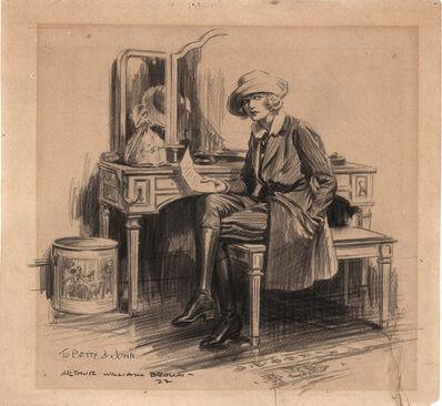 "William Arthur Brown, 'Winnie and the Copperhead"" Saturday Evening Post Illustration', 1922"