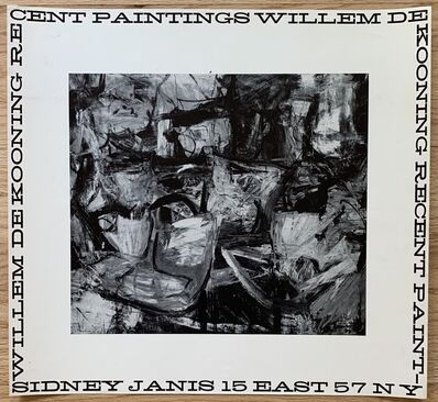 Willem de Kooning, 'Original Sidney Janis Gallery Exhibition Poster', 1956