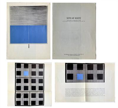 "Jesús Rafael Soto, '""SOTO at Kootz"", Exhibition Pamphlet, Kootz Gallery NYC', 1966"