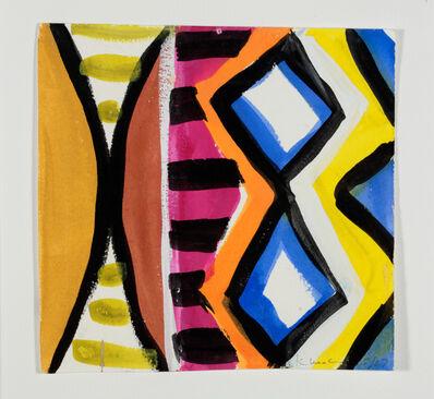 Kim MacConnel, 'Woman with Mirror. (Canvas #02)', 2007