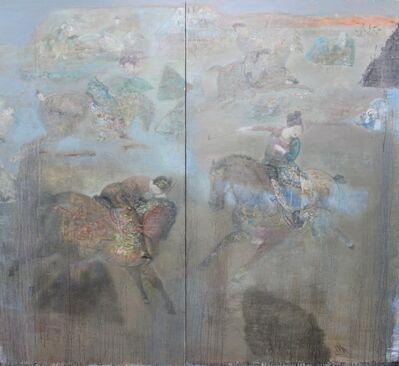 Leng Hong 冷宏, 'Playing Polo (diptych) 打馬球圖(雙聯畫)', 2013
