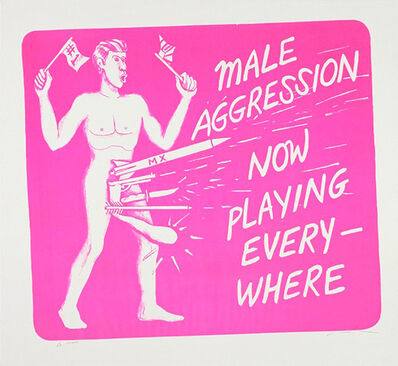 Jonathan Borofsky, 'Male Aggression', 1986