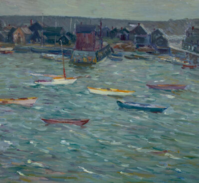 Charles S Kaelin, 'Harbor and Town', ca. 1900