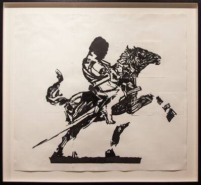 William Kentridge, 'Horseman from Trajan's Column II (drawings from Triumphs and Laments)', 2016